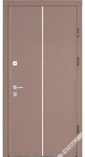 Двери квартирные, STRAJ, модель Mela B, Prestige, коробка 145мм, MOTTURA 54.797 MATIC, девиатор