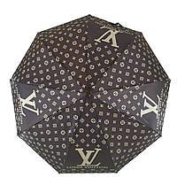 Женский зонт автомат Zita, с изображением логотипов модных брендов, коричневый, 6020-5