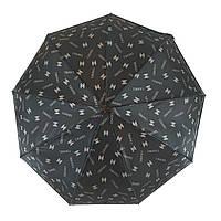 Женский зонт автомат Zita, с изображением логотипов модных брендов, черный, 6020-4