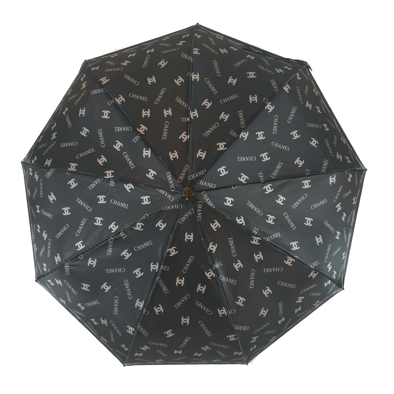Женский зонт автомат Zita, с изображением логотипов модных брендов, 6020-4