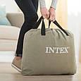 Односпальная, надувная, велюровая кровать Intex 64141 (191*99*25 см), с подголовником, Fiber-Tech, черная, фото 6