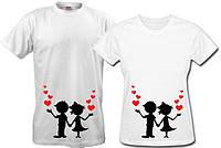 Парные футболки Влюблённые близнецы, фото 1