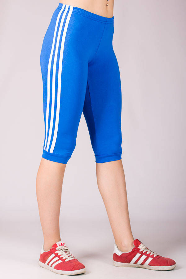 Женские спортивные бриджи Лампас (голубой)