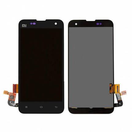 Дисплей (экран) для Xiaomi Mi2S с сенсором (тачскрином) черный, фото 2