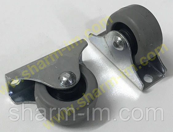 Ролик мебельный D-30 мм Обрезиненный h-35 мм, фото 2