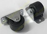Ролик меблевий D-28 мм Прогумований h-32 мм
