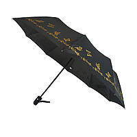 Женский зонт полу-автомат Bellissimo с золотистым узором на куполе на 10 спиц, 18308-9