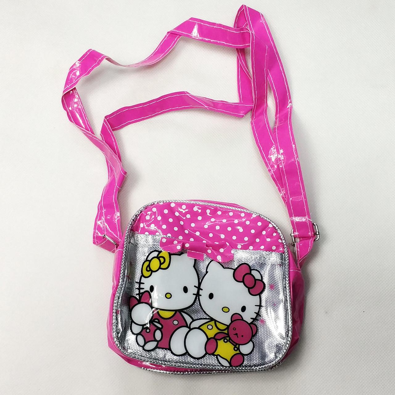 Детская сумка сумочка Hello Kitty малиновая маленькая лак