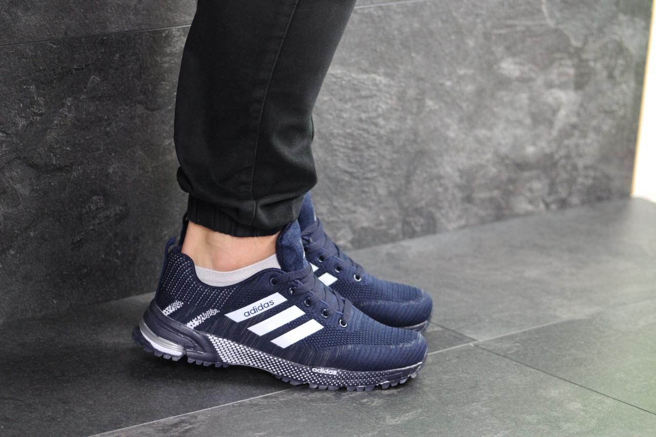 a79015f91 Мужские кроссовки в стиле Adidas Marathon, сетка, пена, синие с белым, цена  1 170 грн., купить в Одессе — Prom.ua (ID#940772988)