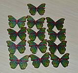 Деревянная пуговица бабочка , фото 2