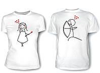 Парные футболки Влюблённые