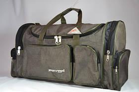 Велика дорожня сумка хакі 112 літр. / Велика сумка дорожня хакі