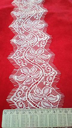 Кружево ажурное айвори с ресничками шантильи 30 метров, фото 2