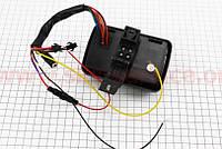 АУДИО-блок с ЖК дисплеем (МРЗ-USB/SD, FM, пультДУ, сигнализация) + колонки 2шт (хром.)