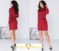 Замшевое платье на кнопках,красное 42,44,46, фото 1