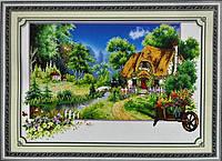 Набор для вышивки картины Домик в деревне 67х48см