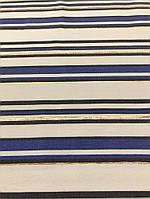 Ткань одёжная бенгалин-жаккард в полоску с золотым люрексом , фото 1