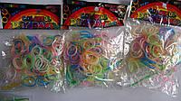 Разноцветные неоновые резиночки,светятся в темноте для плетения браслетов Rainbow Loom Bands, 200 шт флуорисце