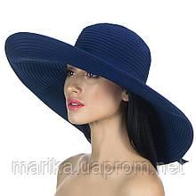 Шляпа широкополая темно синего цвета