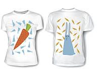 Парные футболки Морковь и Кролик