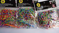 Разноцветные неоновые резиночки для плетения браслетов Rainbow Loom Bands, 200 шт . Різнокольорові неонові рез