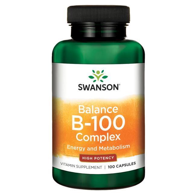 Balance B-100 Complex Витамины группы В , высокое содержание + холин, инозитол, ПАБК 100 капс