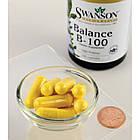 Balance B-100 Complex Витамины группы В , высокое содержание + холин, инозитол, ПАБК 100 капс, фото 2