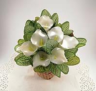 Букет из мыльных цветов Нежные Каллы Цветочная композиция из мыла ручной работы
