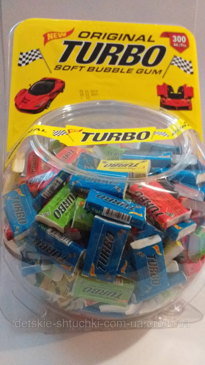 """Жевательная резинка """"Turbo""""(турбо) банка 300шт."""