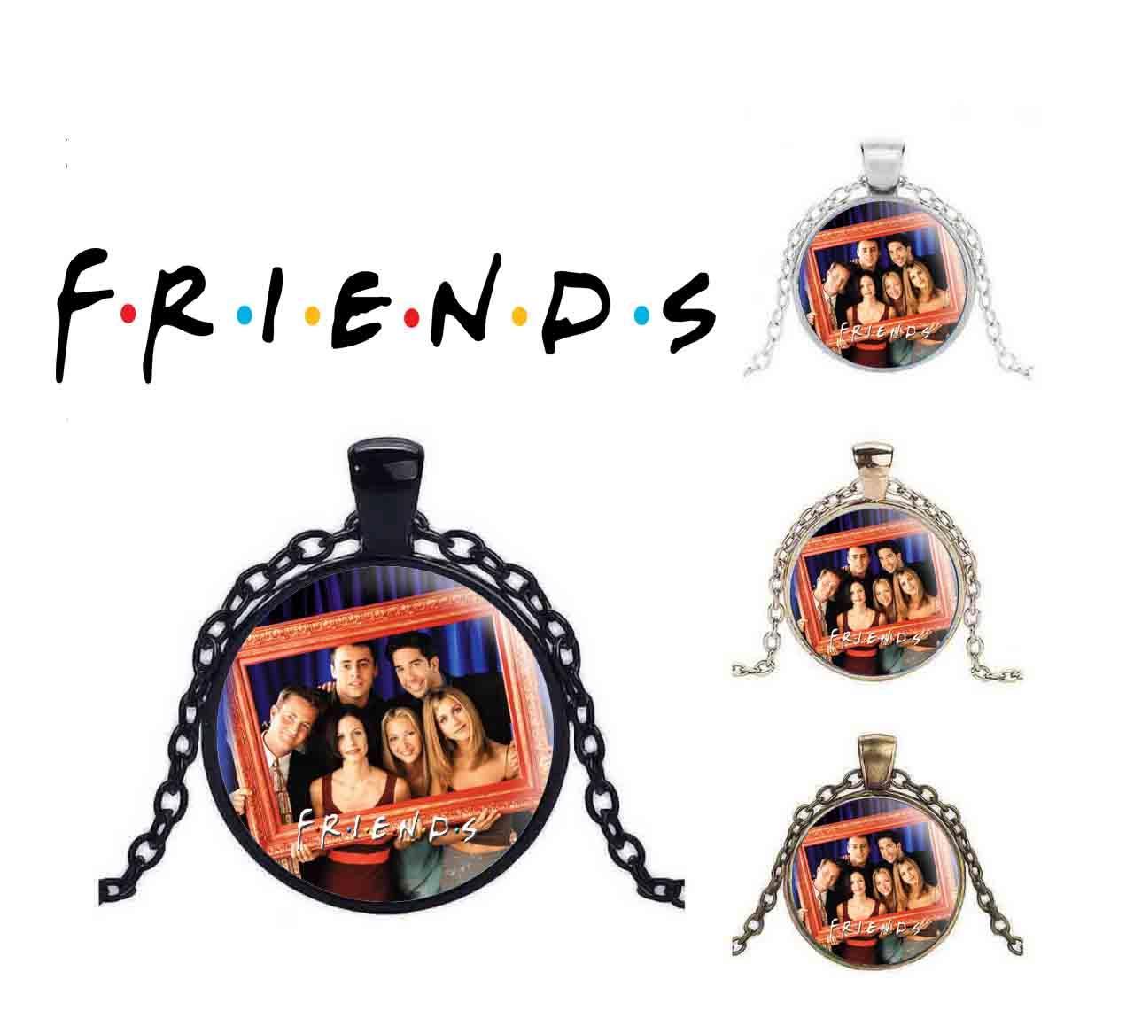 Кулон Друзья/Friends с шестью героями из сериала