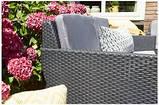 Комплект садових меблів зі штучного ротангу ORLANDO LOUNGE SET графіт ( Allibert ), фото 7
