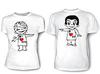 Парные футболки Я люблю Его/Её, фото 1