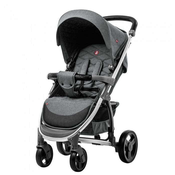 Коляска прогулочная CARRELLO Vista CRL-8505 ткань лён Shark Grey + Дождевик Гарантия качества