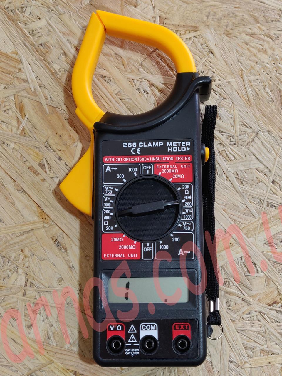 Токовые клещи DT266 мультиметр тестер, фото 1