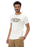 Белая мужская футболка Lc Waikiki / Лс Вайкики с надписью New York falcons, фото 1
