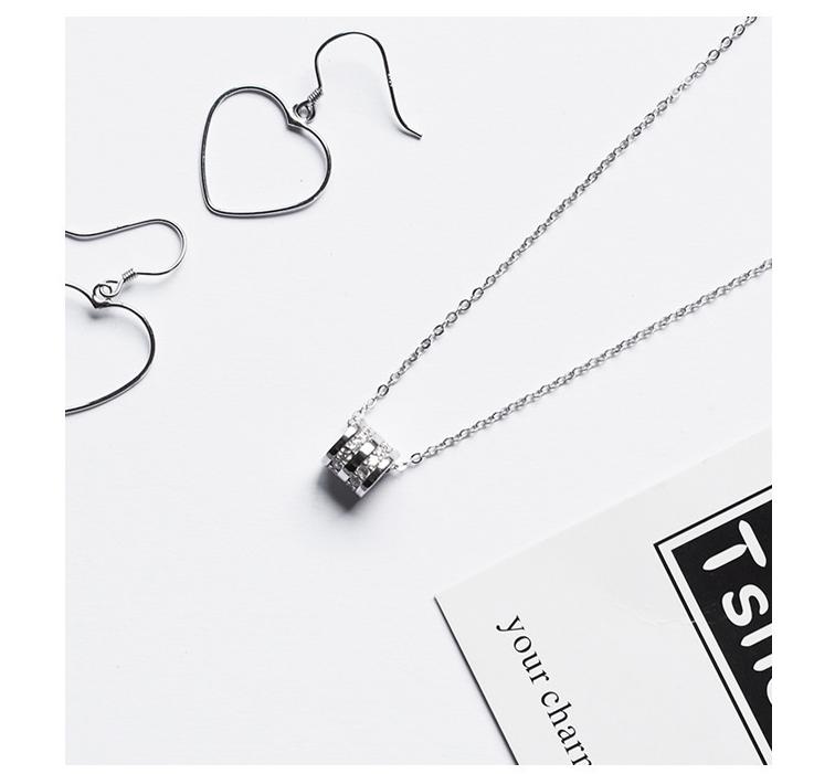 Серебряная Подвеска Весна в стили минимализм