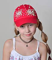 Бейсболка для девочки с бусинами, фото 1