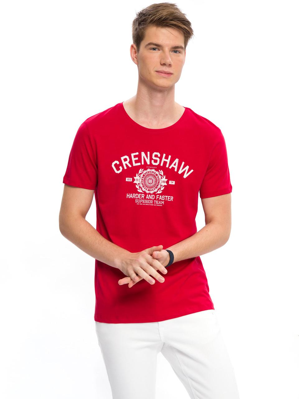 c22c34e71d5c1 Красная мужская футболка Lc Waikiki / Лс Вайкики с надписью Crenshaw ...