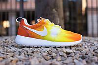 """Кроссовки женские Nike Roshe Run Sunset  """"Желто-оранжевые"""" р. 37-41"""