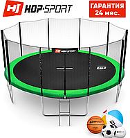 Батути дитячі і для дорослих Hop-Sport 488 див. Зелений з зовнішньої сіткою - 5 ніжки, Німеччина. Гарантія 24