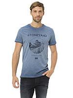 Синяя мужская футболка Lc Waikiki / Лс Вайкики с надписью Stoneyard