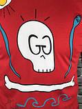 Новинка 2019 року Чоловіча Футболка Gucci червона 100% Бавовна Топ Трендова Стильна Гуччі репліка, фото 2
