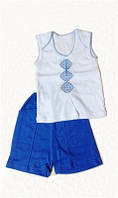Летний костюм-вышиванка Пеппи для мальчика
