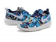 """Кроссовки женские Nike Roshe Run """"Голубые с пальмами"""" р.37, 39, фото 1"""