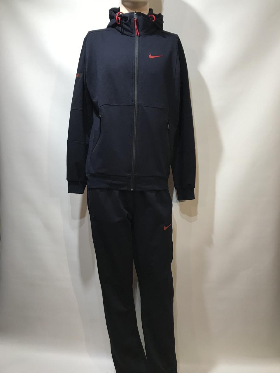 Мужской спортивный костюм Nike (большой размер) / трикотажный / темно/синий