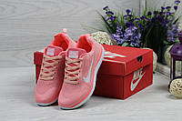 Женские кроссовки в стиле Nike Free Run 40 , розовые 41 (26,2 см)