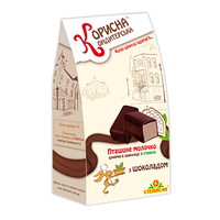 """Шоколадные конфеты Птичье молоко с шоколадом """"Корисна Кондитерська"""" без сахара, 150 г"""