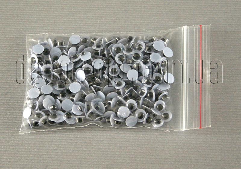 Глазки черно-белые 6 мм ~200 шт.