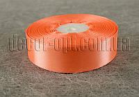 Лента атласная оранжевая  2,50 см 36ярд арт.22