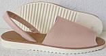 Стиляшки! Женские кожаные сандалии испанка! Летние босоножки менорки цвет пудра, фото 5